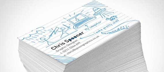 Create a Fun Print-Ready Doodled Business Card Design Adobe Illustrator tutorial
