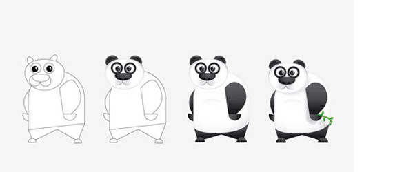 Create a Cool Vector Panda Character Adobe Illustrator tutorial