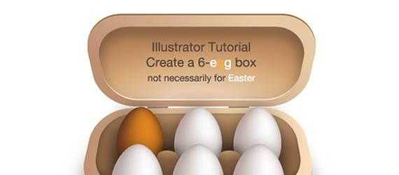 create a 6-egg box Adobe Illustrator tutorial