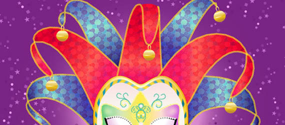 Create a Colorful, Vector Carnival Mask Adobe Illustrator tutorial