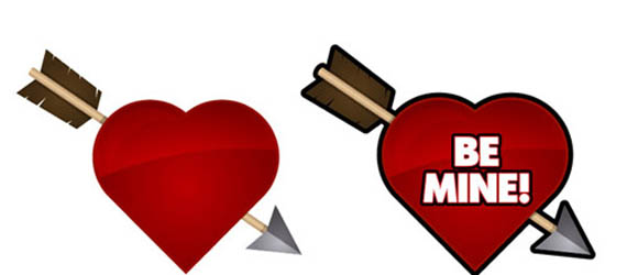 Create an arrow through a heart icon Adobe Illustrator tutorial