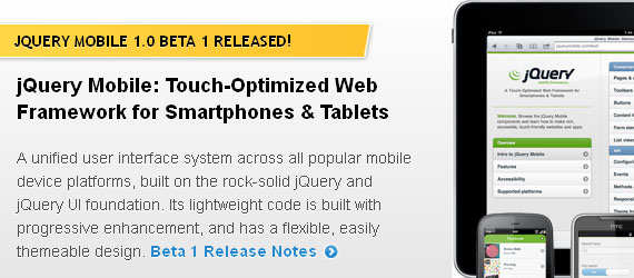 Jquery Frameworks For Mobile Web Apps
