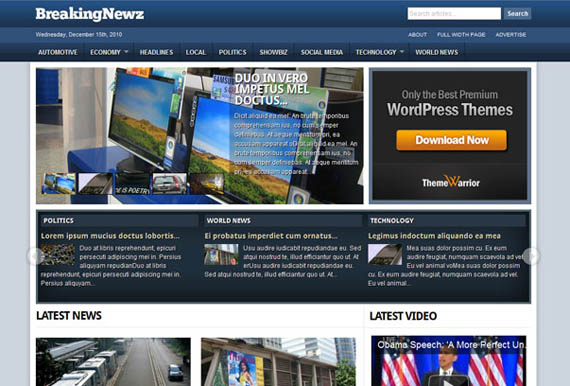 free wordpress magazine theme 2011