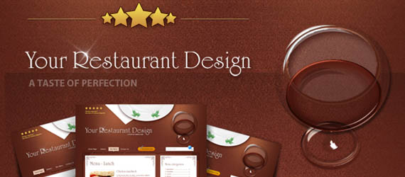 5 PSD Web Templates For Restaurant & Cafe