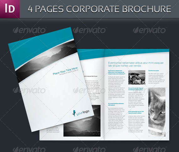 30 modern business brochure templates brochure idesignow for Four page brochure template