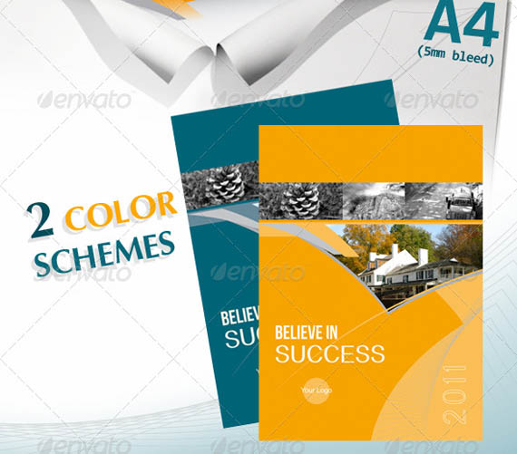 Corporate A4 Brochure in 2 Schemes of Color_3