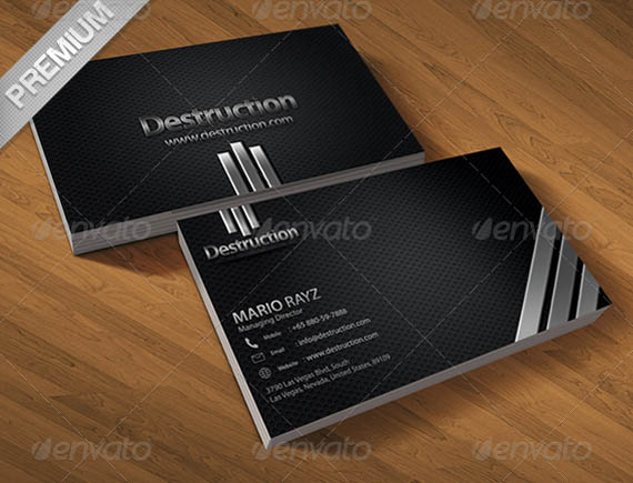 Destruction corporate business card_25