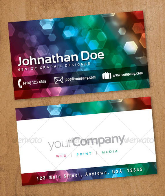 Faux Bokeh Business Card_37