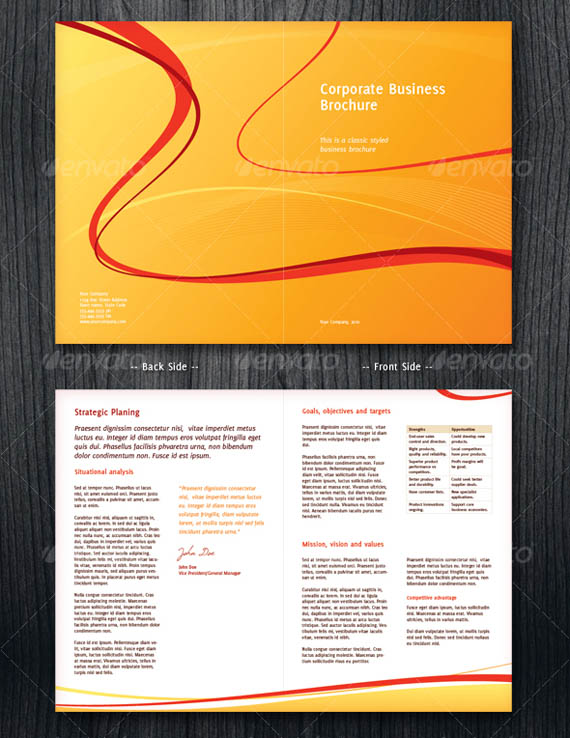 30 Modern Business Brochure Templates Brochure – Half Page Flyer Template