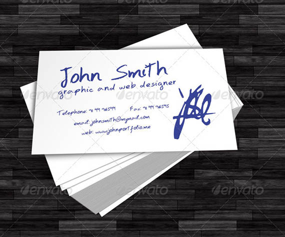 Hand Written Business Card_40