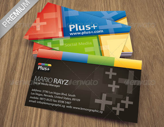 Plus Social Media Corporate Business Card_3