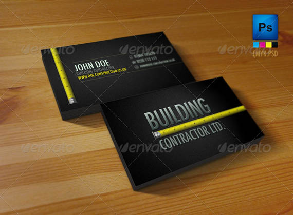 50 best psd photoshop business card templates business card professional construction workers business card33 download page flashek Gallery