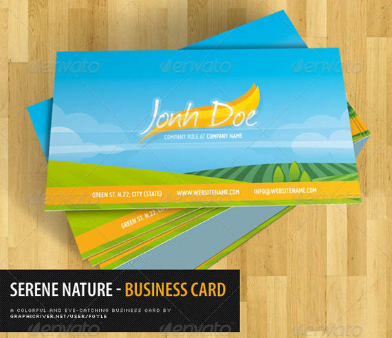 Serene Nature Business Card_28