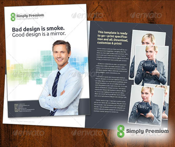 Simply Premium Corporate Folder & 12 page Brochure_9