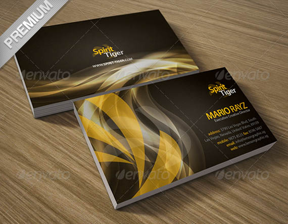 50 best psd photoshop business card templates business card spirit tiger corporate business card1 accmission Gallery