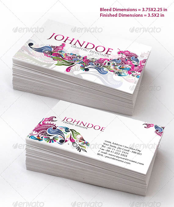 Stylish Floral Business Card Set_50