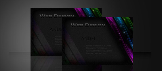 45 best photoshop illustrator business card design tutorials learn how to create a sleek business card reheart Gallery