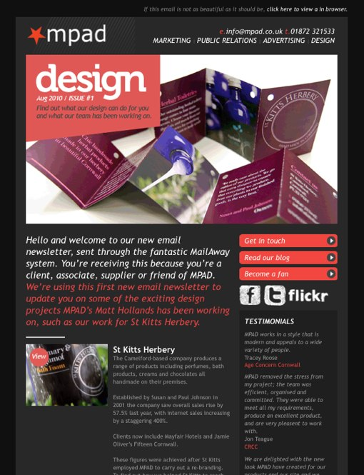 email newsletter design