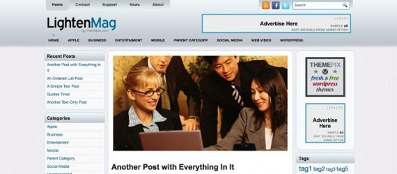 free wordpress theme july 2011
