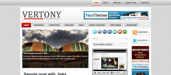 fresh free wordpress theme