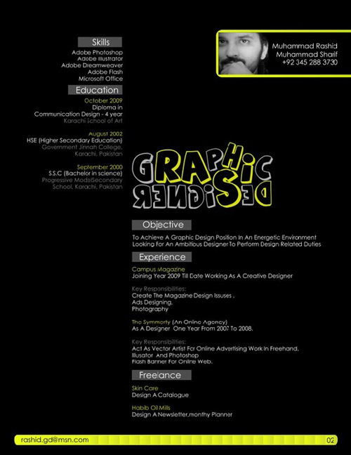 Rashid Sharif Design Resume