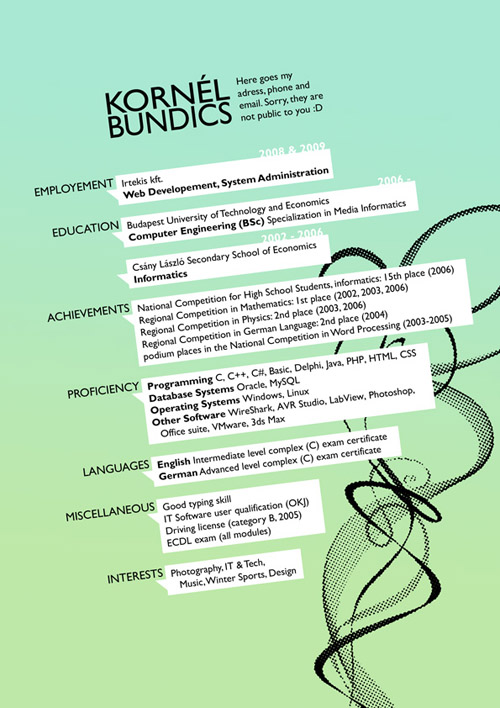 Kornel Bundics Resume Design