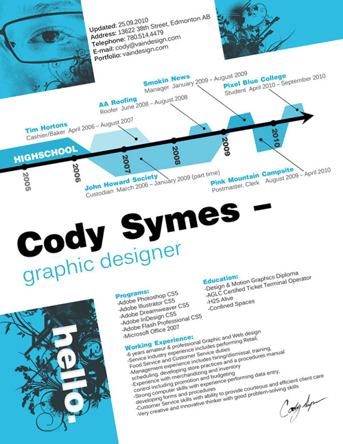 Cody Symes Resume Design