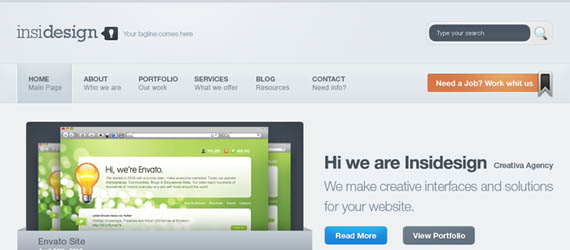 10 Awesome PSD Web Templates For WordPress