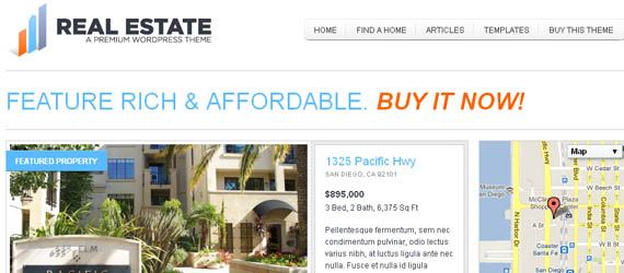 10 WordPress Themes For Real Estate