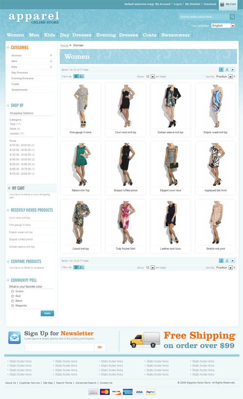 Apparel and Clothes Magento Template_33