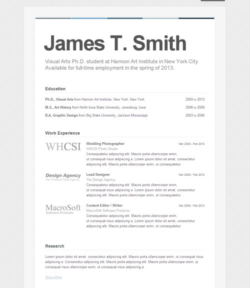 resume set up out of darkness