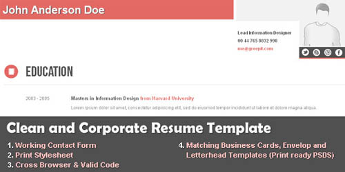 Clean and Corporate CV_8