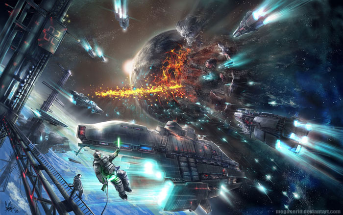 20 Epic Digital Sci Fi Battle Arts Inspiration