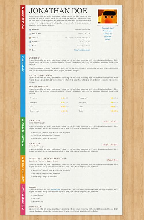 40 Great HTML CV Resume Templates