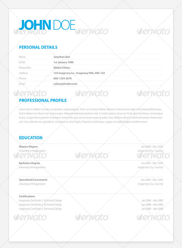 15 photoshop  u0026 indesign cv  resume templates