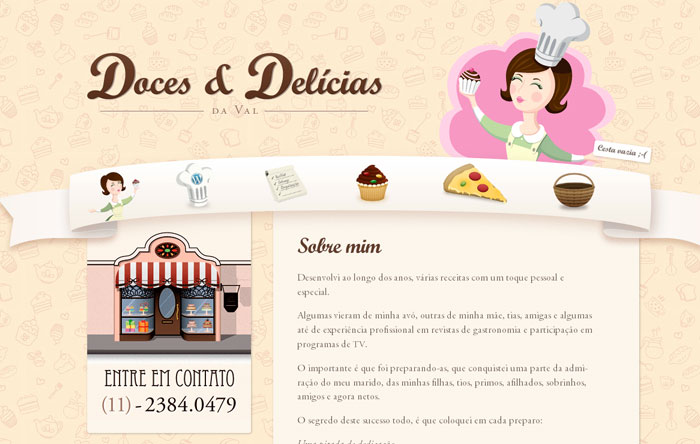 20 Yummy Cupcake Cake & Bakery Website Designs | Inspiration | Web ...