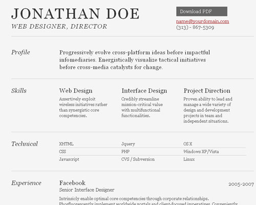 html_resume_36