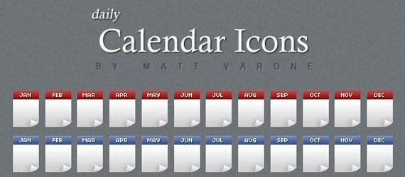 5 Awesome Calendar Icon Sets