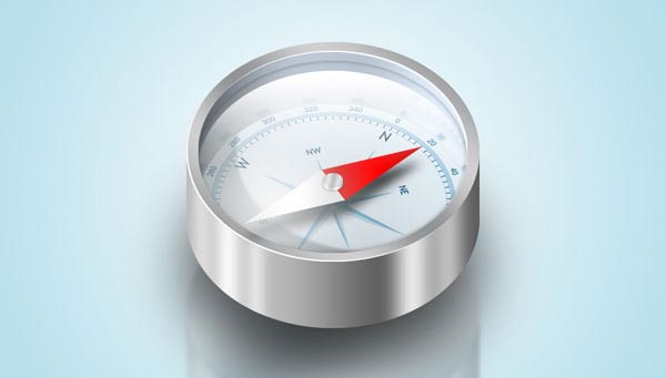 Design a Detailed Compass Icon in Photoshop