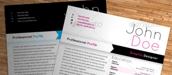 15 Photoshop & InDesign CV/Resume Templates