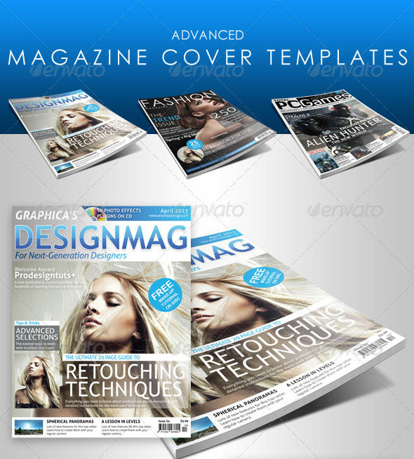 25 photoshop indesign magazine cover templates psd for Magazine cover page template psd