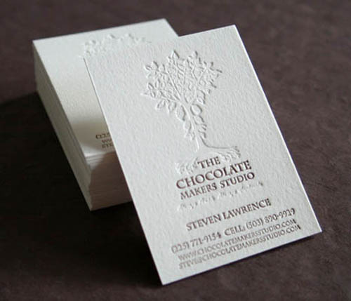 Chocolate Makers Studio Letterpress Business Card_9