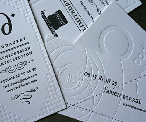 Cretive Four Friends Letterpress Business Cards_2