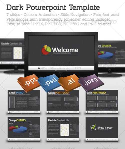 Dark Powerpoint Template_13