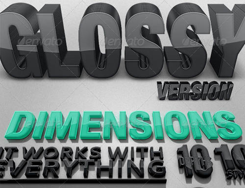 Dimensions Glossy Version - 3D Generator Action_13
