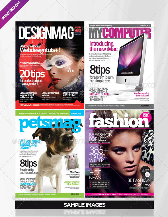 25 Photoshop & InDesign Magazine Cover Templates | PSD | iDesignow