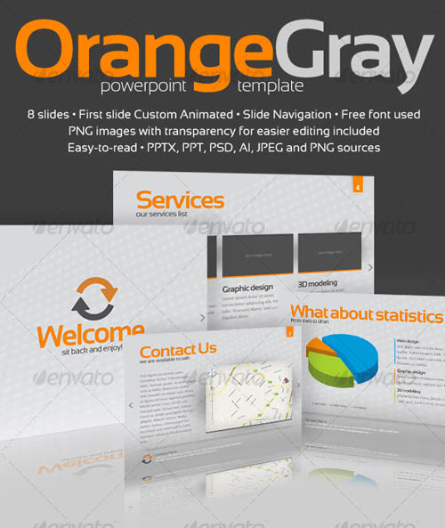 Orange Gray Powerpoint Template_9