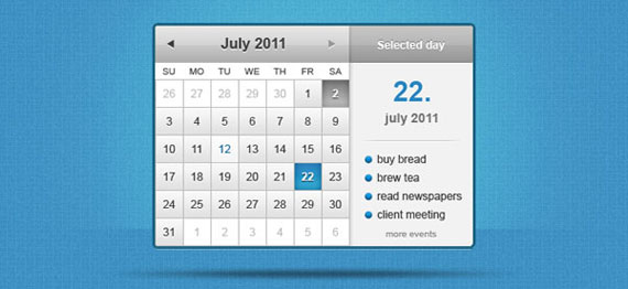 10 Free PSD Photoshop Calendar Templates