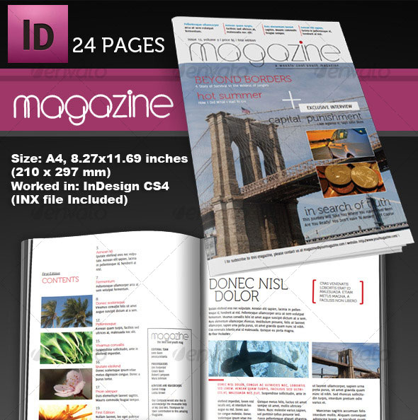 25 photoshop & indesign magazine cover templates | psd | idesignow, Powerpoint templates