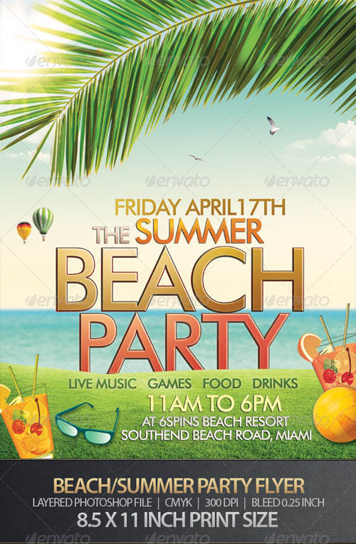 Beach or Summer Party Flyer_25